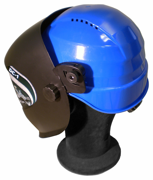 careta de soldar dc-1 con casco de obra